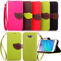 Multicolour Leaf  Shaped With Stand Case for Samsung GALAXY J1 fashion Phone Bag Cover for Samsung GALAXY J1 Coque Card Slot