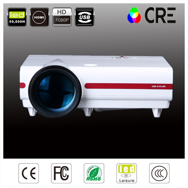 CRE X1500 LED Projector support full hd 1080p Multimedia player 3500 Lumens for Home Theater