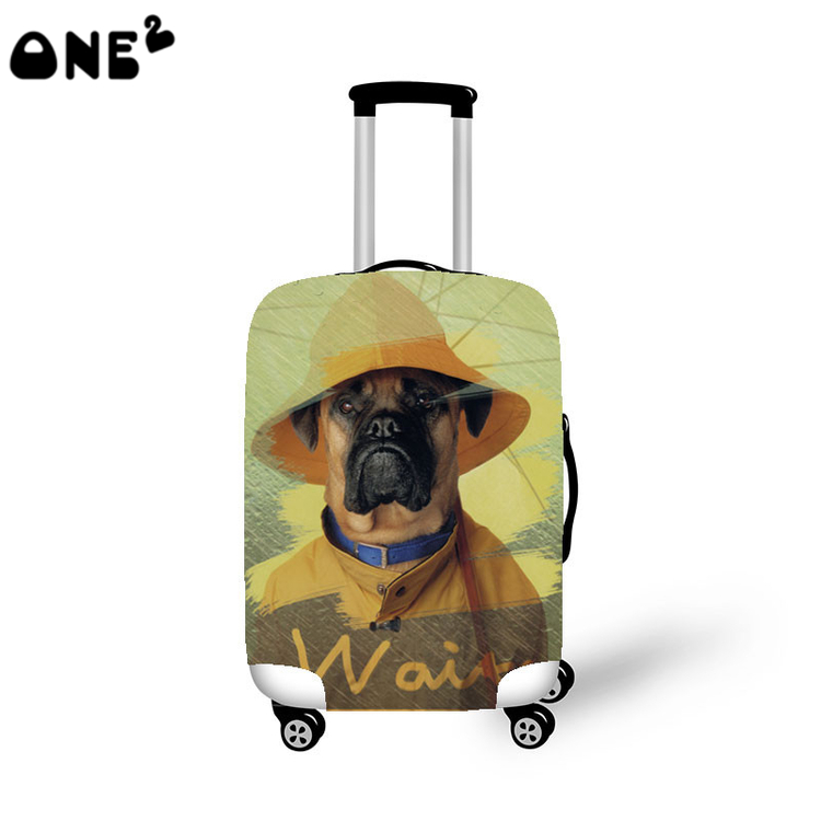 2016 ONE2 Design cut dog pattern printing cover apply to 22 24 26 inch suitcase trolley
