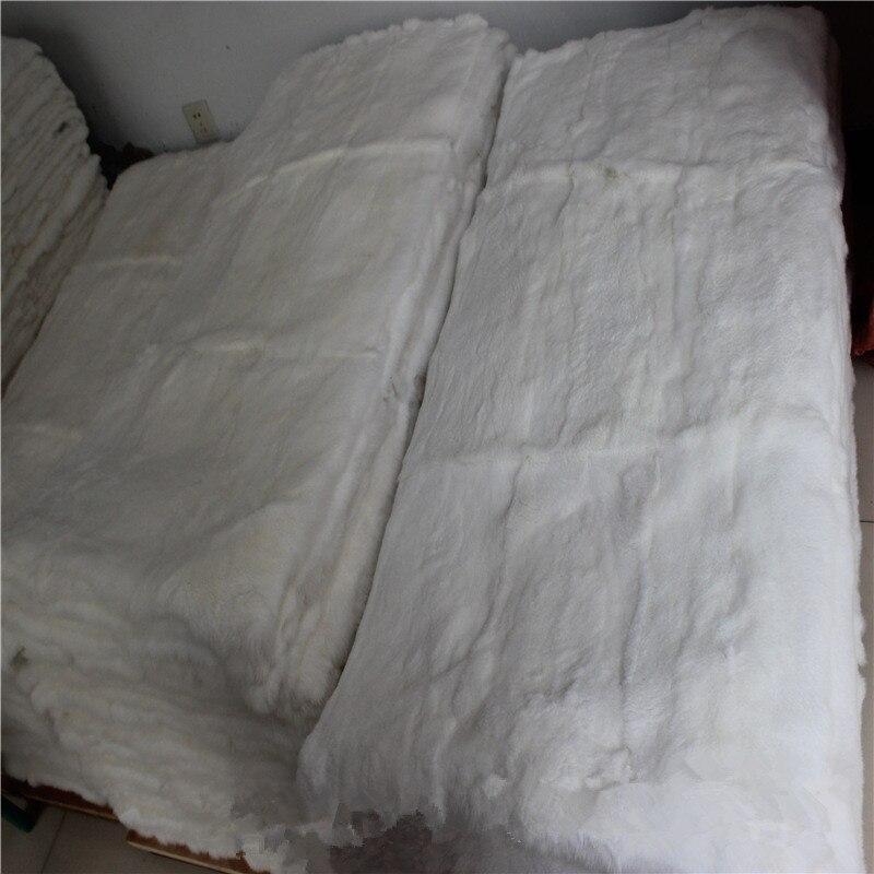 Meilleure qualité Rex peau de lapin réel Rex lapin/Rex tapis de plaque de fourrure
