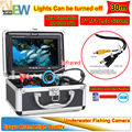 "Free Shipping!30M 1000TVL HD CAM Fish Finder Underwater Fishing Video Recorder DVR 7"" Color Monitor Infared Backlight Control"