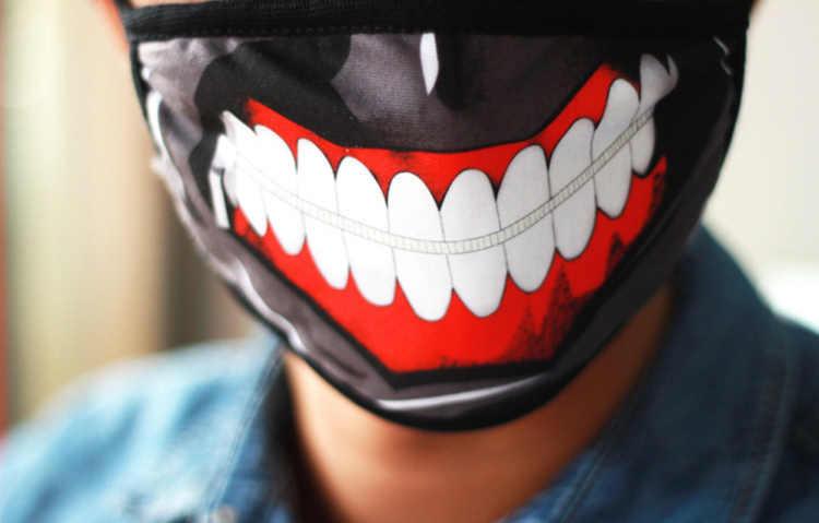 Kualitas tinggi Izin Tokyo Ghoul Kaneki Ken 2 Masker Masker Pu Kulit Keren Masker Blinder Anime Cosplay