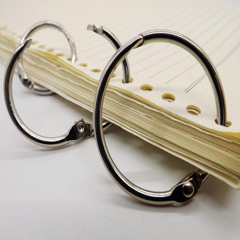 10pcs Metal Loose Leaf Book Binder Hinged Rings
