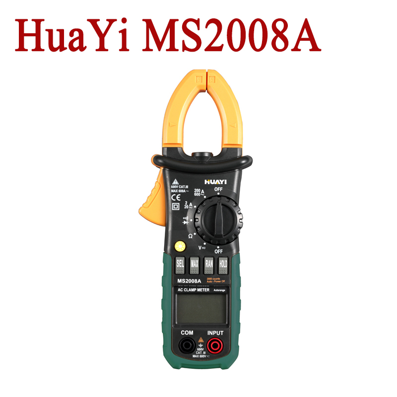 Professional HuaYi MS2008A Digital Multimeter  Clamp Meter Current Clamp Pincers AC Current AC/DC Voltage Resistance Tester от Aliexpress INT
