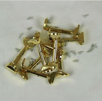 20 Pairs Hill style 4/4 Violin Fiddle Golden Chinrest Clamp parts accessories copper plated