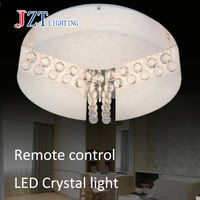 T Best Price Crystal Acrylic LED Ceiling Light Remote Control Three Color Temperature Circle Simple Modern