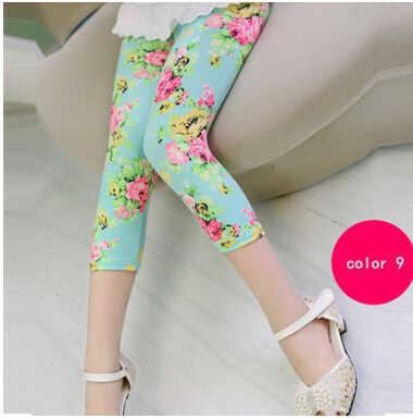 2019 Популярные и новые леггинсы для девочек летние разноцветные эластичные молочные шелковые дышащие штаны леггинсы для девочек