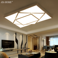 Surface mounted LED ceiling lights for bedroom living room brightness dimmer black white iron body Mordern home indoor lamp