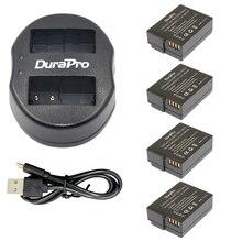 4 шт. DMW-BLC12 DMW-BLC12E BLC12 литий-ионная аккумуляторная батарея + USB двойной зарядное устройство для Panasonic FZ1000, FZ200, FZ300, G5, G6, G7, GH2