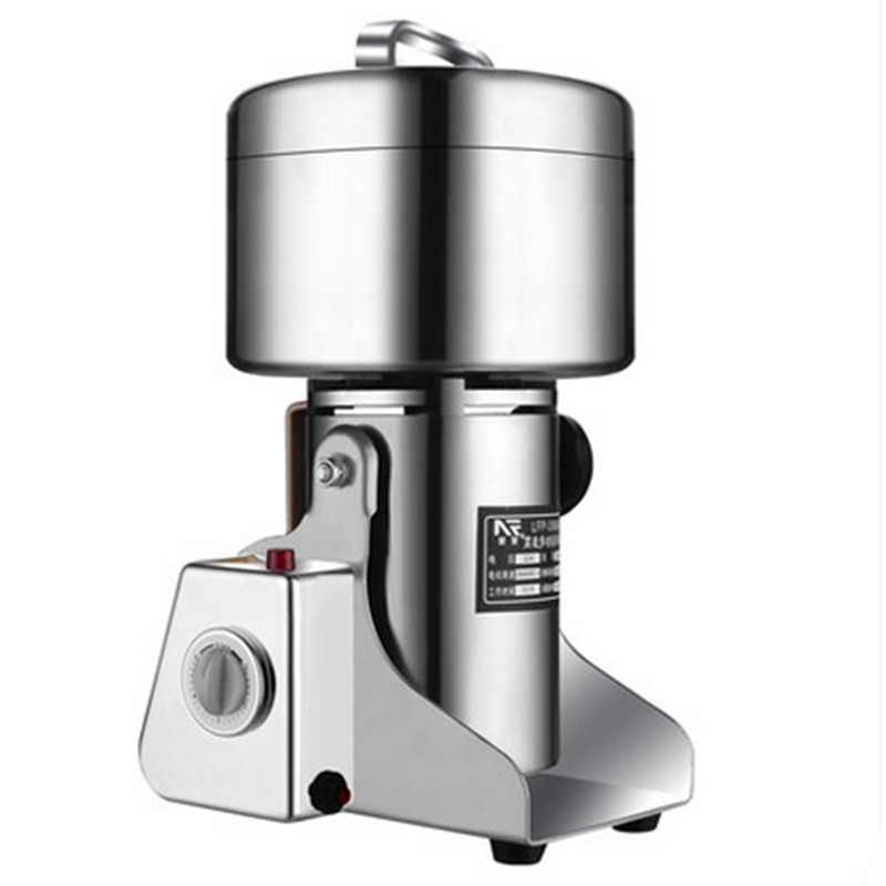 1800W Large Capacity Stainless Steel Electric Mill Crusher Grains Powder Pepper Herb Grinding Machine For Mincer Free Shipping