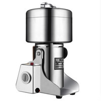 1800W Large Capacity Stainless Steel Electric Mill Crusher Grains Powder Pepper Herb Grinding Machine Mincer