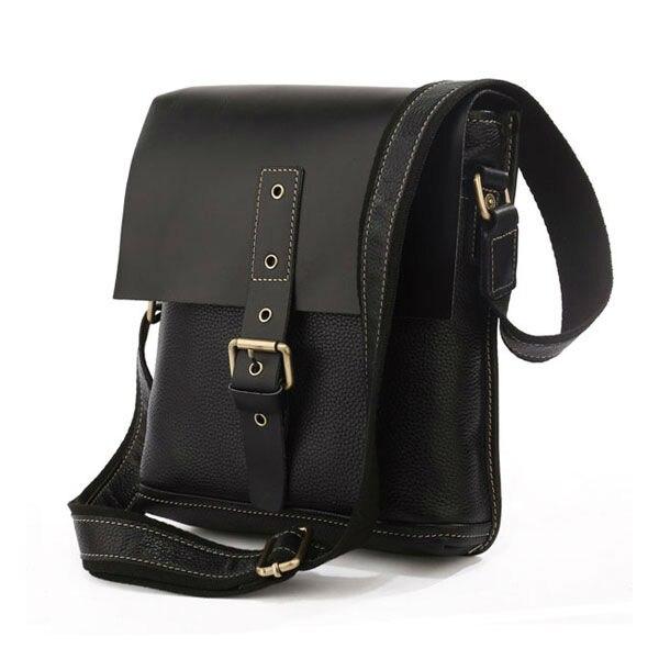 Uniual Genuine Leather Shoulder Bag Men Messenger Crossover For Man 7157a