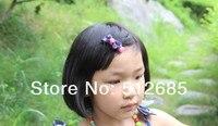 минимальный. $ 15 } 30 PCS/лот дети / девочка / принцесса / младенцы место печать лента волос клип / волос аксессуары смешать цвет