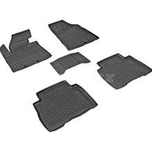 Резиновые коврики для Kia Sorento XM (2012-2014) с высокими бортиками (Seintex 83621)