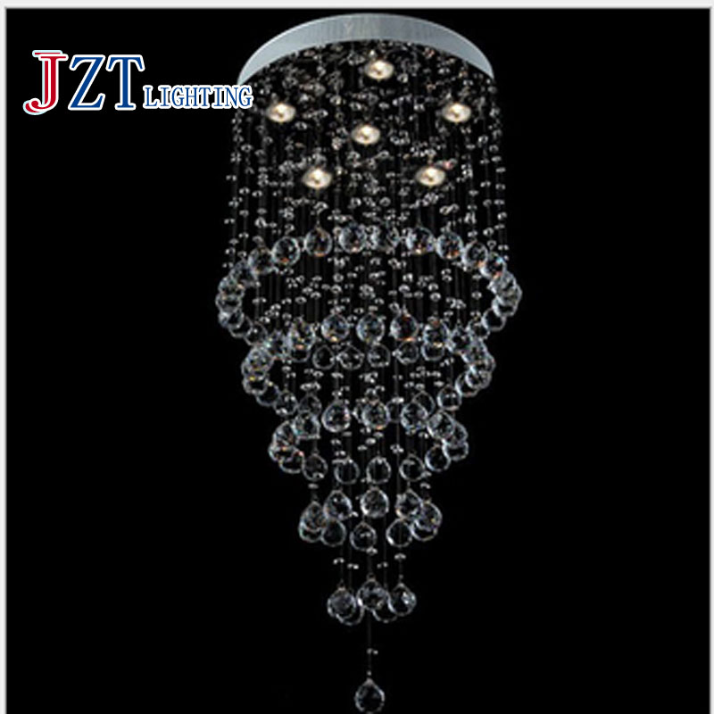 T Modern Lustre Crystal Chandeliers Simple Crcular LED light Creative Lamp For Sitting Room Dining-room Hotel Porch Light t best price modern lustre rectangular crystal chandeliers for dining room pandent lamp with led bulbs for entrance aisle