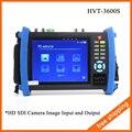 """7 """"Câmera de Segurança CCTV Monitor Tester HD SDI Entrada VGA Saída 12V2A HVT-3600S"""