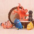 5 pçs/lote 3.5-5.5 cm Procurando Nemo PVC Modelo Figura Ação, Hot Filme de Desenhos Animados Brinquedo Nemo & Dolly, Anime Brinquedos, Brinquedos dos miúdos