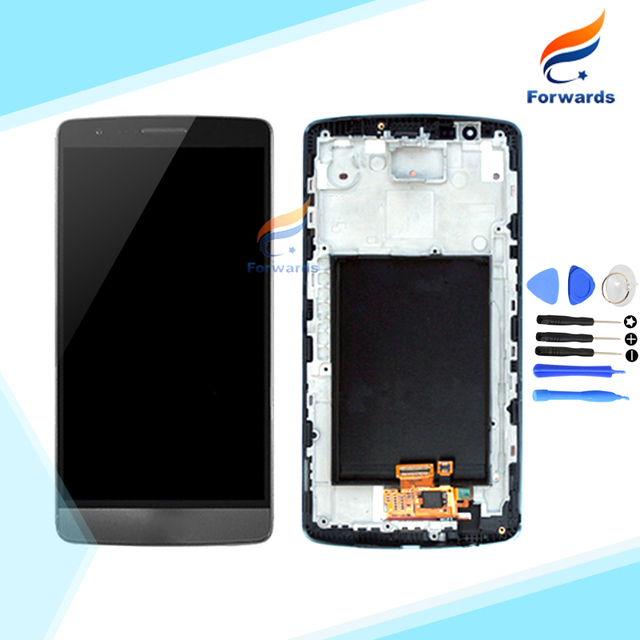 Pantalla lcd de alta calidad para lg g3 d850 d851 d855 con touch asamblea Digitalizador de pantalla + Frame + Herramientas 1 unidades de HK envío gratis
