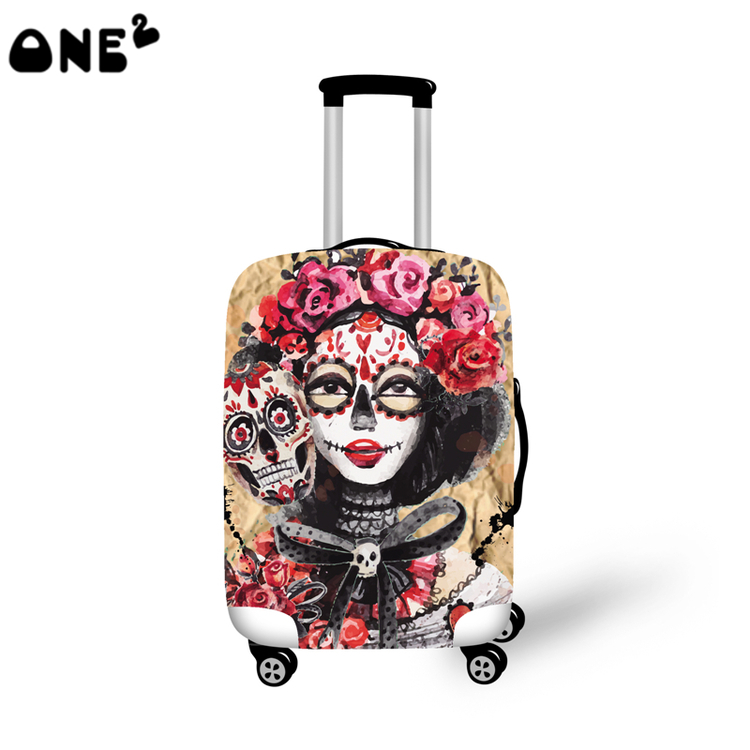 2016 ONE2 Design beautiful pattern cover apply to 22 24 26 inch protective travel luggage suitcase
