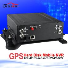 720P GPS HD HDD Car Nvr Free Shipping 4CH H.264 Alarm Input/Output RJ45 Interface Cyclic Recording GPS Tracker Mobile Nvr