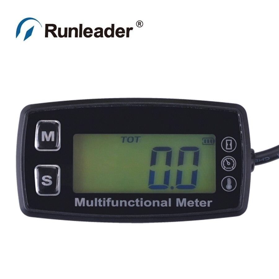 Digital LCD RL TS003 PT100 20 300 Celsius degree tach hour meter theomometer temp meter for