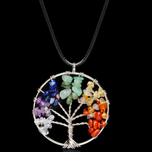 Natural Stone Necklace Tree with Charming stones