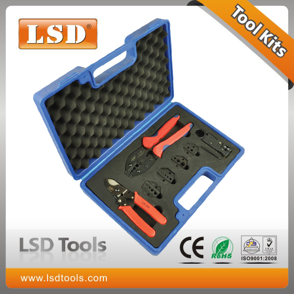 LY-05H-5A2 High Quality Combination Tools in plastic box with LY-05H Crimper LS-206 Cutter LS-312B Stripper and die sets