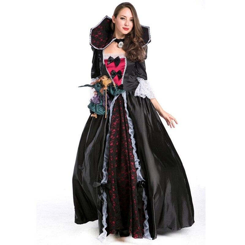 vampiro disfraces de halloween evil queen medieval vestidos de bola negro bat vampiro cosplay trajes