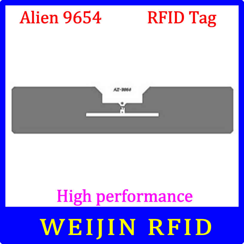 Alien 9654 UHF RFID dry inlay 860-960MHZ Higgs3 915M EPC C1G2 ISO18000-6C,can be used to RFID tag and label