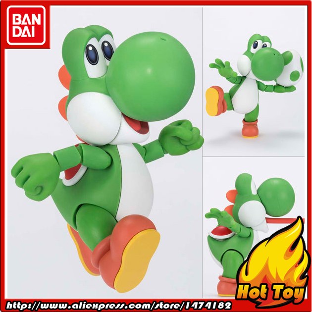 100% Original BANDAI Tamashii Nations S.H.Figuarts (SHF) Action Figure - Yoshi from Super Mario World lacywear шарф shf 45 lad