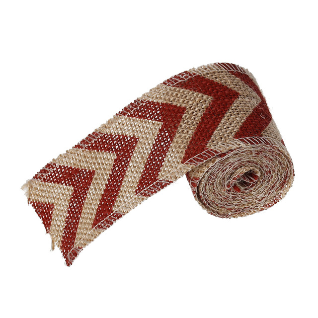 Jute Burlap Fabric Satin Ribbon Gift Packing Diy Crafts Headband