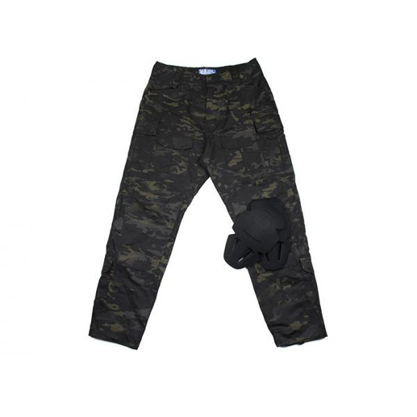 MCBK 3G Ripstop combat pants with knee protection Tactical Army Ripstop Pants Multicam Black