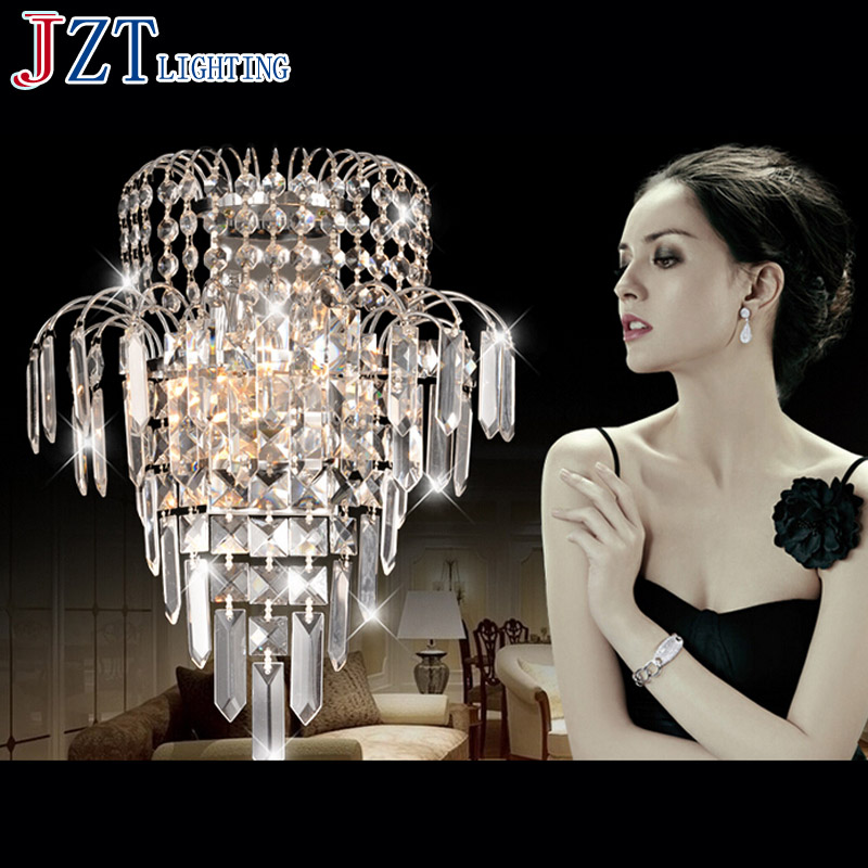 M Modern K9 Lustres Crystal Wall Lamps Golden and Silver Lampshade Wall Hall Bedroom Lighting Hallway