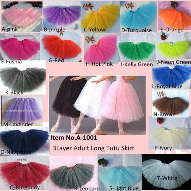 Woman Ballet  Dance Tutu Skirt  Adult Classic Tulle Tutus Long Skirt Wholesale By EMS