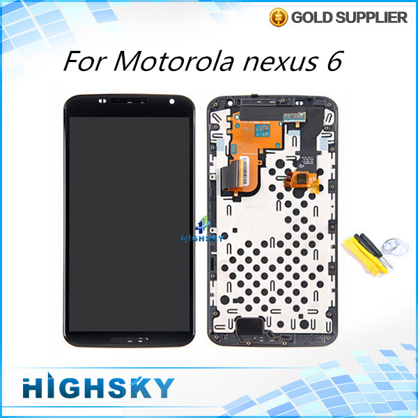 For lcd Motorola nexus 6 XT1100 XT1103 screen lcd display touch digitizer with frame replacement 1