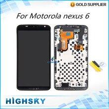Für lcd Motorola nexus 6 XT1100 XT1103 lcd-display + touch digitizer mit rahmen ersatz 1 stück kostenloser versand
