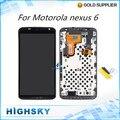Para tela de lcd motorola nexus 6 xt1100 xt1103 display lcd + digitador touch com substituição quadro 1 peça frete grátis