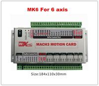 6 axis USB mach3 motion control card four axis breakout interface board for cnc milling machine