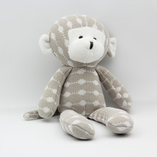 30CM Knited Toy Special Offer Organic Cotton Monkey Doll High Quality Very Cute For Children's Gift Free Shipping