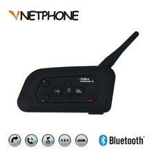 V4 Intercom Bluetooth Motorcycle Bike Interphone Headset Speaker 4 Riders for KTM ls2 arai Helmet Football Referee