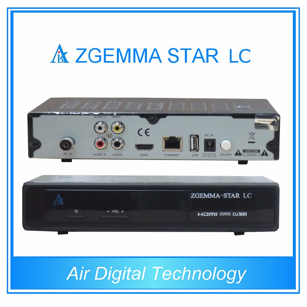 5pcs/lot Best Sale Full Channels Softwares Zgemma-Star LC FTA Sat Receiver Linux OS E2 DVB-C One Tuner Upgraded Zgemma-Star H1