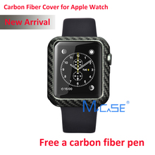 Mcase New Arrival For Apple Watch Carbon Fiber Cover Case 42mm 38mm Luxury Ultra Thin Genuine Carbon Fibre Cover For i Watch