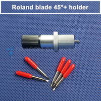 5 Pcs Blade 1 Pcs Holder Free Shipping 45 Degree Roland Cutting Plotter Blade And 1