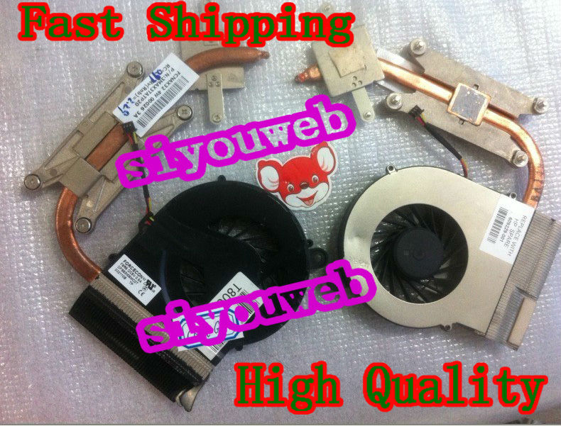 Free shipping , Laptop CPU Cooling Fan & Heatsink 606573-001 for HP CQ42 CQ56 CQ62 G42 G56 G62 new forcecon dfs551005m30t fadl cooling fan for hp cq43 cq57 647316 001 cpu cooling fan with heatsink
