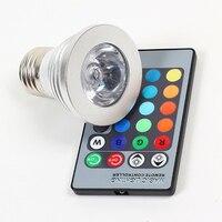 из светодиодов Лампа IC диктант пульт управления переменного тока 90 ~ 240 в Лампа E27 3 вт 16 цветов изменение цвета RGB Сид светодиодные лампы бесплатная доставка 8339