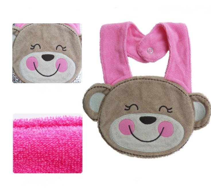 Kids Girl Boy Baby Bib Animals Cotton Saliva Towel Waterproof Infant Lunch Bibs For Baby