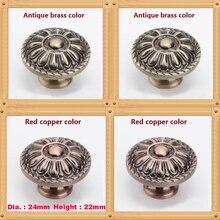 Dia.33mm Single Hole Zinc Alloy Kitchen Furniture pulls antique drawer knob
