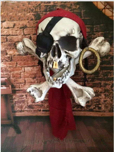 big size 2017 new masks pirates banner flag halloween theme party one piece bar club pub cosplay decorations props supply gifts