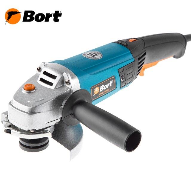 Машина шлифовальная угловая (болгарка) Bort BWS-1000-R (блокировка шпинделя, регулировка кожуха без ключа, регулировка скорости)