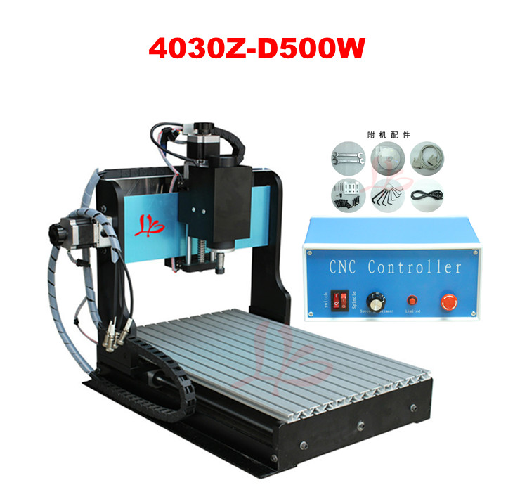 Free Shipping! mini cnc milling machine 500W spindle CNC Router 3040 Z-D wood cutting machine, hot new arrival free shipping by sea cheap hot sale mini desktop wood cnc router